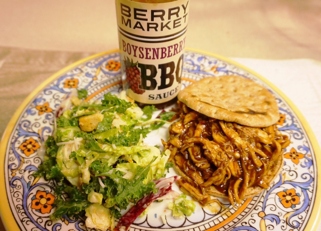 Knott's Berry Market Recipe: Pulled Chicken Boysenberry BBQ Sandwich