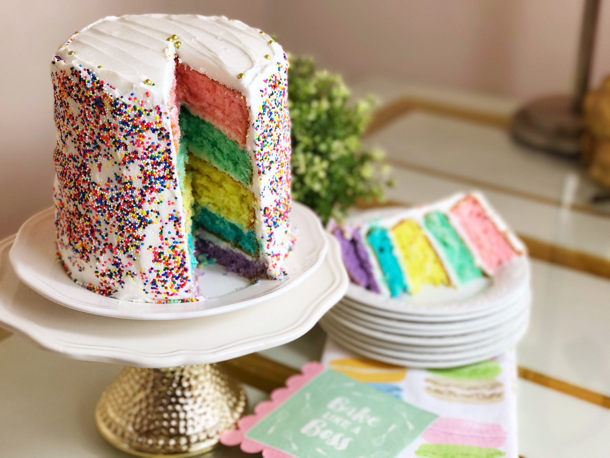 Sprinkles Are For Winners 5 Layer Rainbow Cake