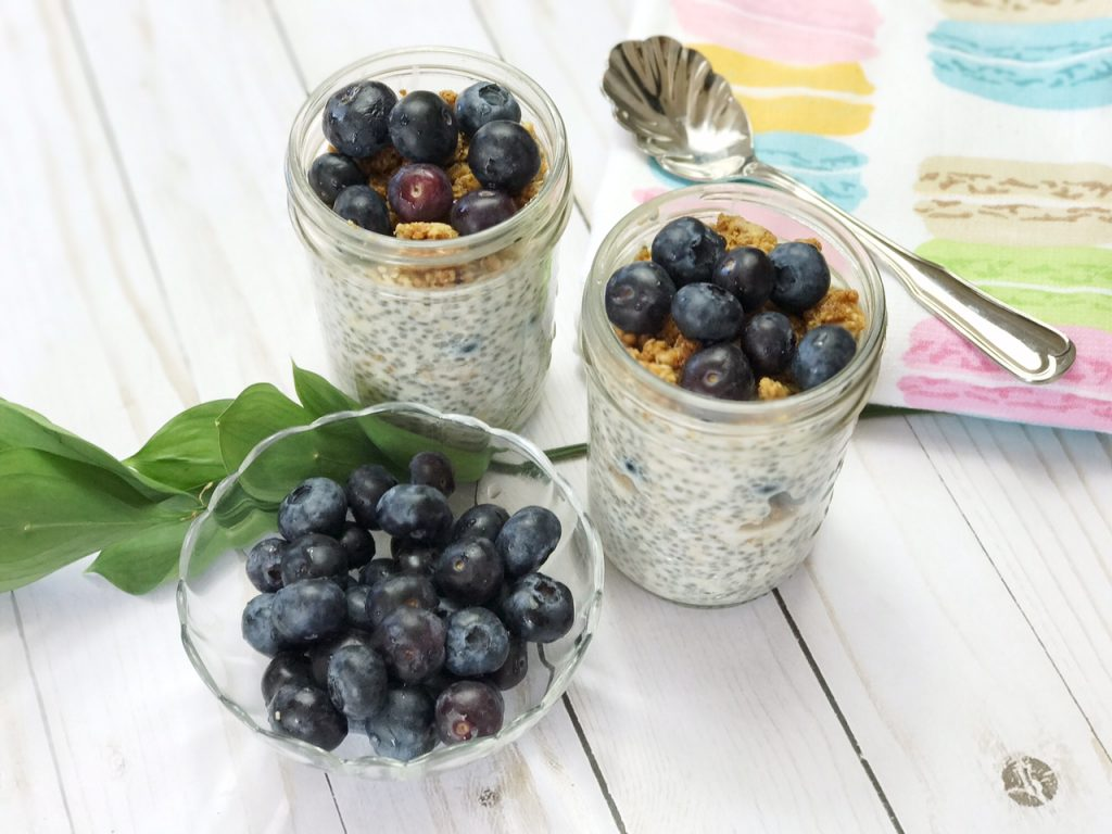 Fresh Blueberries and Chia Seed Pudding