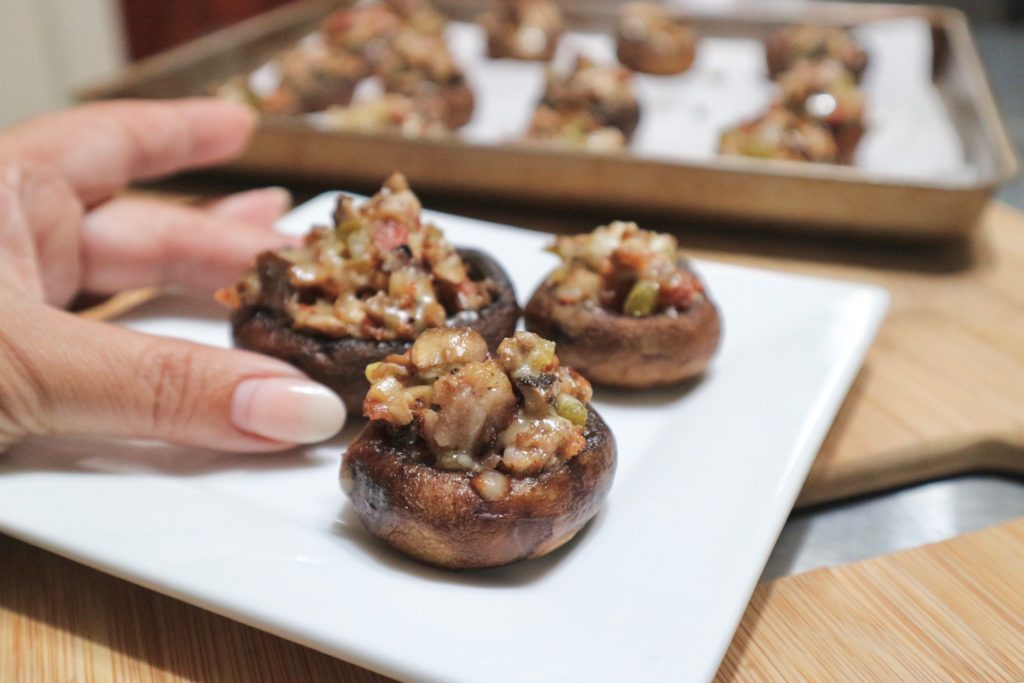 Stuffed Mushrooms with Bacon and Sausage
